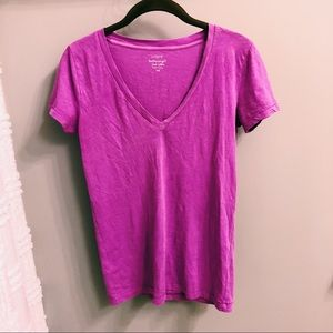 Magenta J. Crew V-Neck T-Shirt